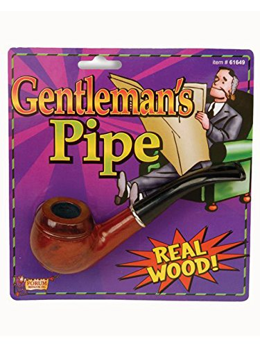 Forum Novelties 61649 Gentleman's Pipe, As Shown, ST (Fake Beards For Sale That Look Real)