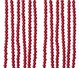 Home Décor Kurt Adler 9' Red Wood Round Bead Garland Christmas Decor-Set of 3