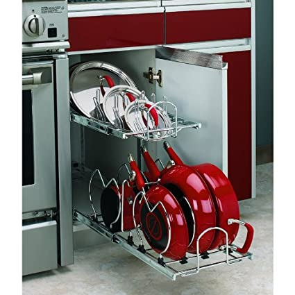 Image Unavailable. Image Not Available For. Color: Rev A Shelf 2 Tier Metal  Pull Out Cabinet Basket