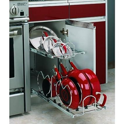 Rev A Shelf 2 Tier Metal Pull Out Cabinet Basket