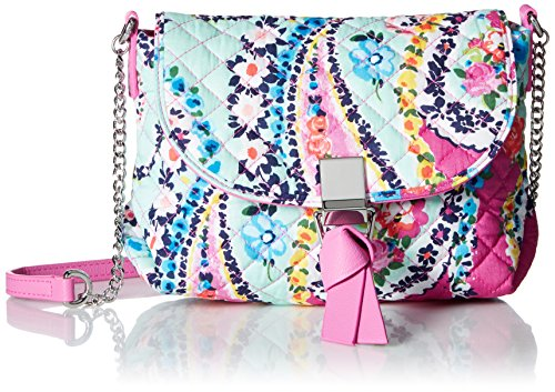 Vera Bradley Carson RFID Mini Crossbody, Signature Cotton, Wildflower Paisley