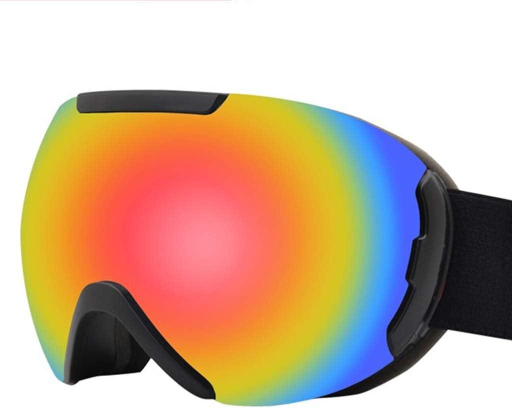 Rot OLLVU Skibrillen for Unisex Schutz Objektiv Anti-Fog-Dual-Layer-Objektiv Anti UV Sphärische for Snowboarden Kann Eine Schutzbrille Setzen