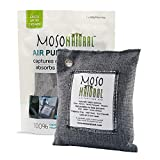 MOSO NATURAL Air Purifying Bag. Bamboo Charcoal Air Freshener, Deodorizer, Odor Eliminator, Odor Absorber For Cars and Closets. 200g...