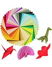 KissDate 3 Pack 150 Sheets 6 Inches Double-Sided Square Origami Paper 50 Vivid Colors for Arts and Crafts Projects