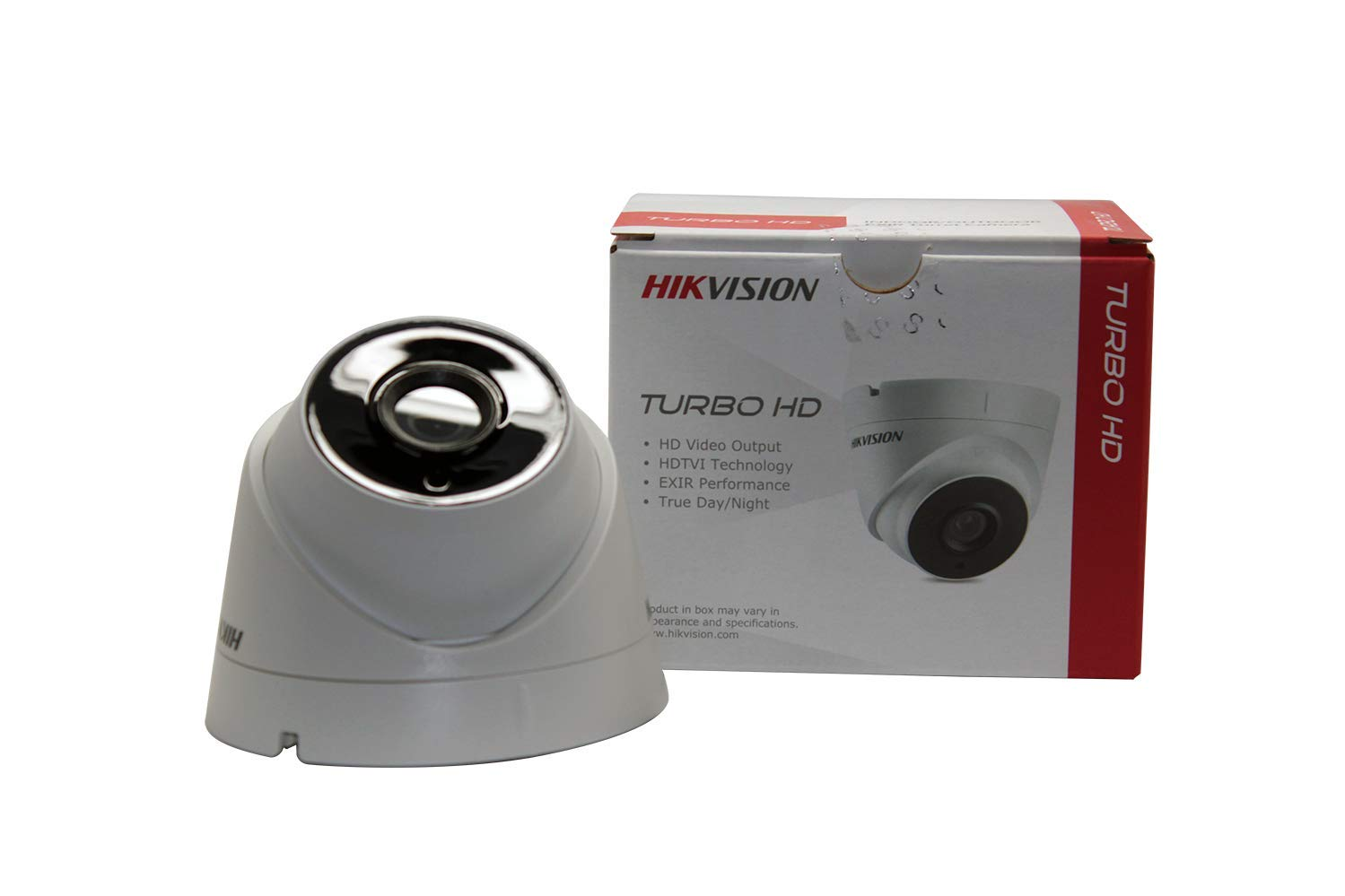 Hikvision 5MP CMOS Image Sensor Turbo HD EXIR Turret HD-TVI Camera with 2.8mm Fixed Lens, IR 40M, IP67 OSD menu, DNR, DWDR Model: DS-2CE56H1T-IT3(2.8MM)