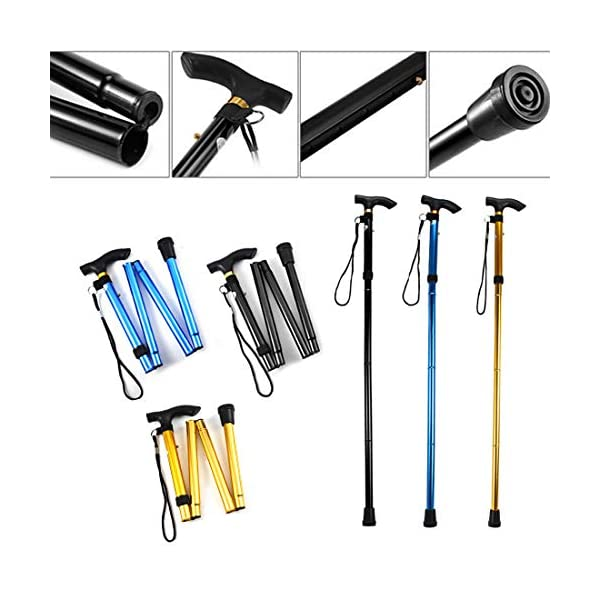Evealyn-WalkingHikingTrekkingCamping-StickPoleCanes-Foldable-Collapsible-Portable-Lightweight-Adjustable-Hand-Walking-Cane-Mountaineering-Crutches-Outdoor-for-Men-Women-3