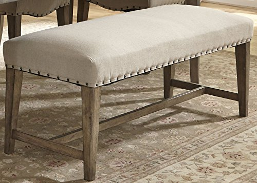 Liberty Furniture Industries 645-C6501B Weatherford Dining Upholstered Bench, 50″ x 18″ x 19″, Brownstone Caramel