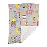 Lolli Living Baby Stroller Blanket. Enchanted Garden Printed Ultra-Soft Throw Blanket for Strollers (40x30 inch)