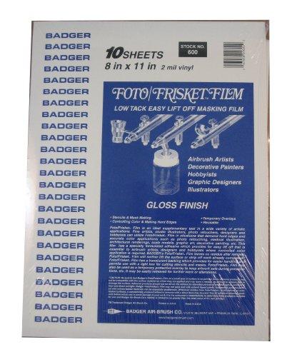Badger Air-Brush Co. 600 Foto/Frisket Film Gloss