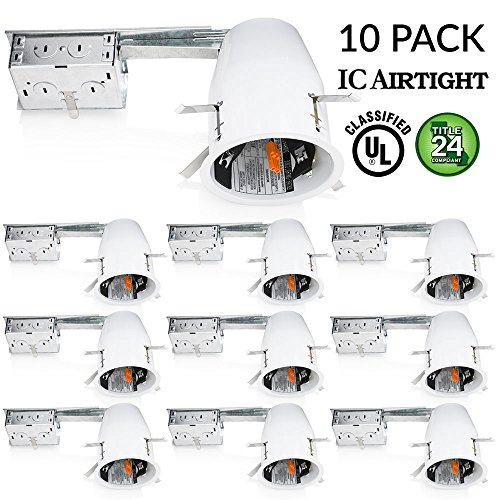 """Led Shop Lights 10 Pack: 4"""" Inch Remodel LED Can Air Tight"""