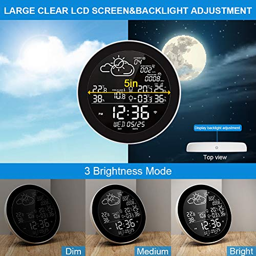 Delicacy WiFi Smart Weather Stations,Wireless Indoor Outdoor Digital Thermometer Hygrometer with Remote Sensor, Temperature Humidity Monitor and Alerts & Data Storage for Home, Greenhouse, Cellar