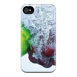 Iphone 4/4s Hard Back With Bumper Silicone Gel Tpu Case Cover Innervation Fruits