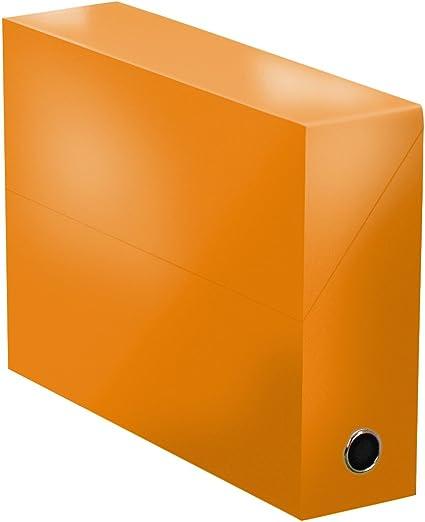 Elba 400080244 color life – Caja de transferencia ancho 9 cm 34 x 25,5 cm Plastificado Naranja: Amazon.es: Oficina y papelería