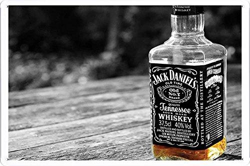 Jack Daniel's Half Bottle Whiskey Tin Poster by Food & Beverage Decor Sign
