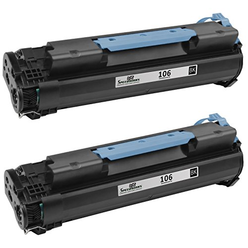 Speedy Inks - 2 Pack Compatible Black Laser Toner Cartridge for Canon 106 0264B001AA for use in ImageClass MF6530, ImageClass MF6540, ImageClass MF6550, ImageClass MF6560, ImageClass - Reman Toner Canon