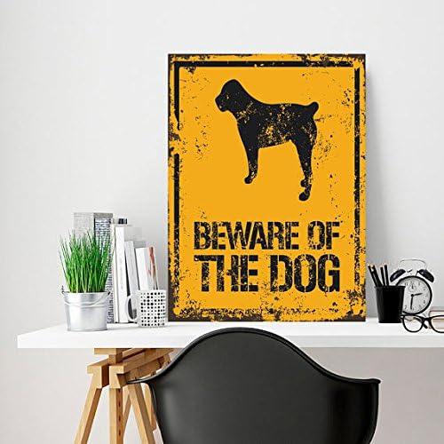 Beware Wall Sign Dog Sign Metal Sign Beware of the dog Outdor Decor Custom metal Custom Sign targa in metallo Custom Sign Sign 30,5/x 20,3/cm