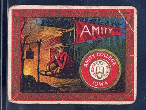 (Amity College - Original 1910 Tobacco Card - Murad Cigarettes T51 - Camping Theme )
