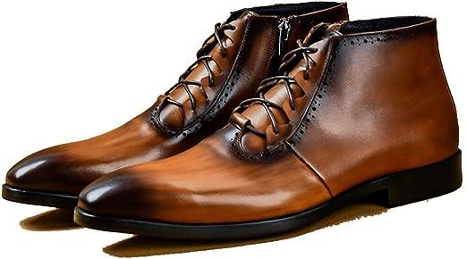 Botas Martín para Hombre Leather Botas Botines Zapatos Vestir ...