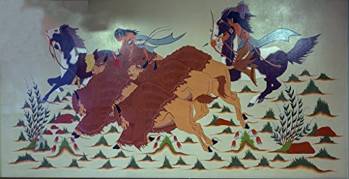 Vintography 24 x 36 Photo of: Mural Showing Native Americans on Horseback by Artist Crumbo at The Interior Department Building, Washington, D.C. -