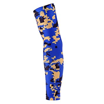 25e9935638 Compression Sports Arm Sleeve UV & Sun Protection Cover for Men Women Youth Baseball  Football Basketball