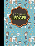 3 59 - 3 Column Ledger: Account Book Journal, Accounting Notebook, Ledger Books For Bookkeeping, Cute Police Cover, 8.5