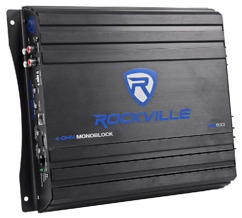 "Rockville RV8.2A Dual 8"" Car Enclosure+Mono Amplifier+Amp Kit"