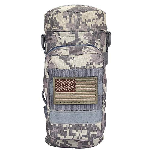 Sportmusies Military Tactical Molle Water Bottle Pouch Carry Bag for Outdoor Activities ACU Digital Camo