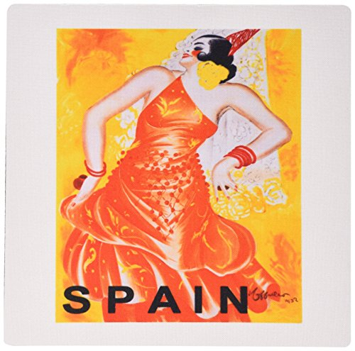 3Drose LLC 8 X 8 X 0.25 Inches Mouse Pad, Spain 1937 Vintage Travel Poster (Mp_109660_1)