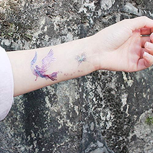 Haodou Púrpura Alas Tatuaje Flash Impermeable Tatuaje Temporal ...
