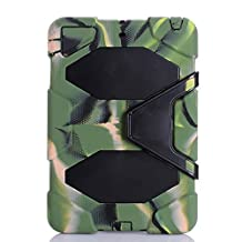 IIYBC Brand for Apple Ipad Mini 1&2&3 Defender Shockproof Survivor Military Duty Hybrid Hard Case with Soft Silicone (Army Green)