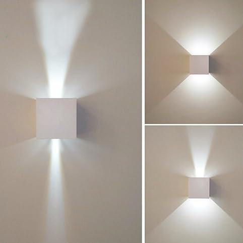 7W LED Wall Sconce Light,Modern Minimalist Dimmable,Adjustable Light  Angle,Aluminum Indoor