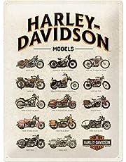 Nostalgic-ArtHarley-Davidson - Model Chart - Gift idea for motorcycle fansRetro Tin SignMetal PlaqueVintage design for decoration30 x 40 cm