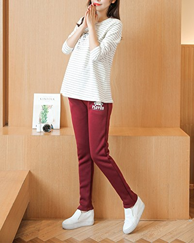 Panello Tasche Donna Prémaman Rosso Vino Elastico Pantalone Zqt56xRw