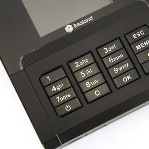 Realand A-C030 Fingerprint Time and Attendance Clocking Machine USB Password