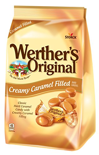 WERTHER'S ORIGINAL Creamy Caramel Filled Hard Candies, 30 Ounce Bag, Hard Candy, Bulk Candy, Individually Wrapped Candy Caramels, Caramel Candy Sweets, Bag of Candy, Hard Candy Bulk ()