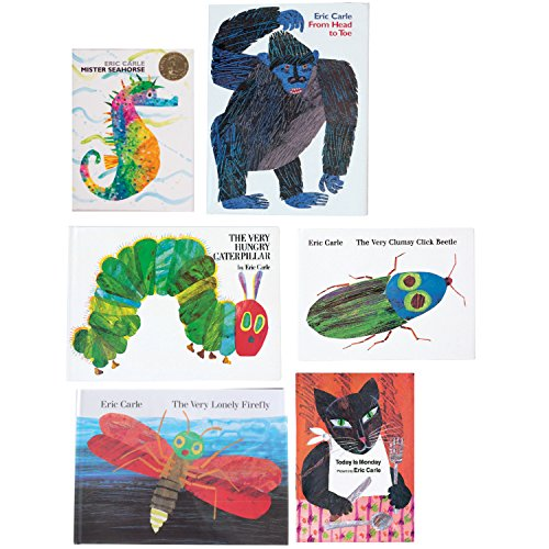 Constructive Playthings BOK-103 Eric Carle Collection #1 Hardcover Books, Grade: Kindergarten to 1, Set of 6 by Constructive Playthings