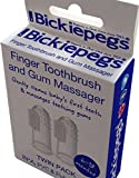 Bickiepegs Silicone Finger Toothbrush & Gum Massager TWIN PACK
