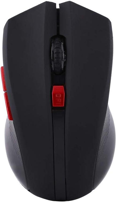 Annadue Souris mécanique Souris sans Fil 2.4G, Souris de Jeu Universelle, Souris de Bureau pour PC, Jeux pour Ordinateur Portable(Red) black