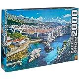 Grow - Dubrovnik Quebra-Cabeças 2000 Peças, 12+ Anos, Multicor, (Grow 3610)
