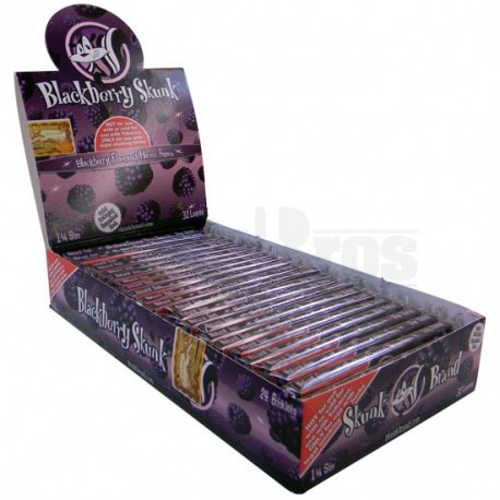 (5 Pack Blackberry Skunk Rolling Papers Hemp 1 1/4 Size with Free BB Sticker)