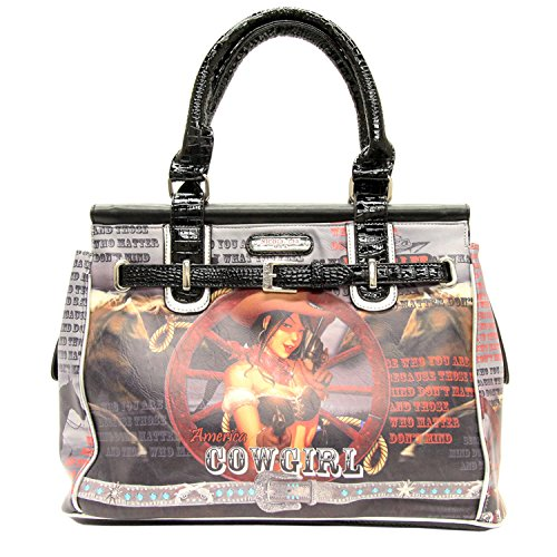 nicole-lee-western-print-overnighter-silver-one-size