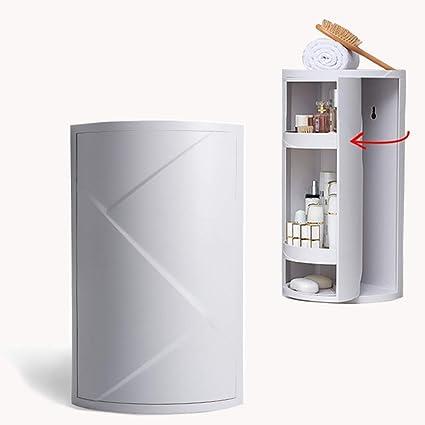 Amazon Com Fazhen360 Rotating Corner Shelves 4 Tier Storage Cabinet