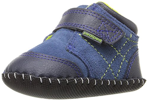 pediped Troy Bootie (Infant/Toddler), Blue, Small/4-4.5 E US Infant