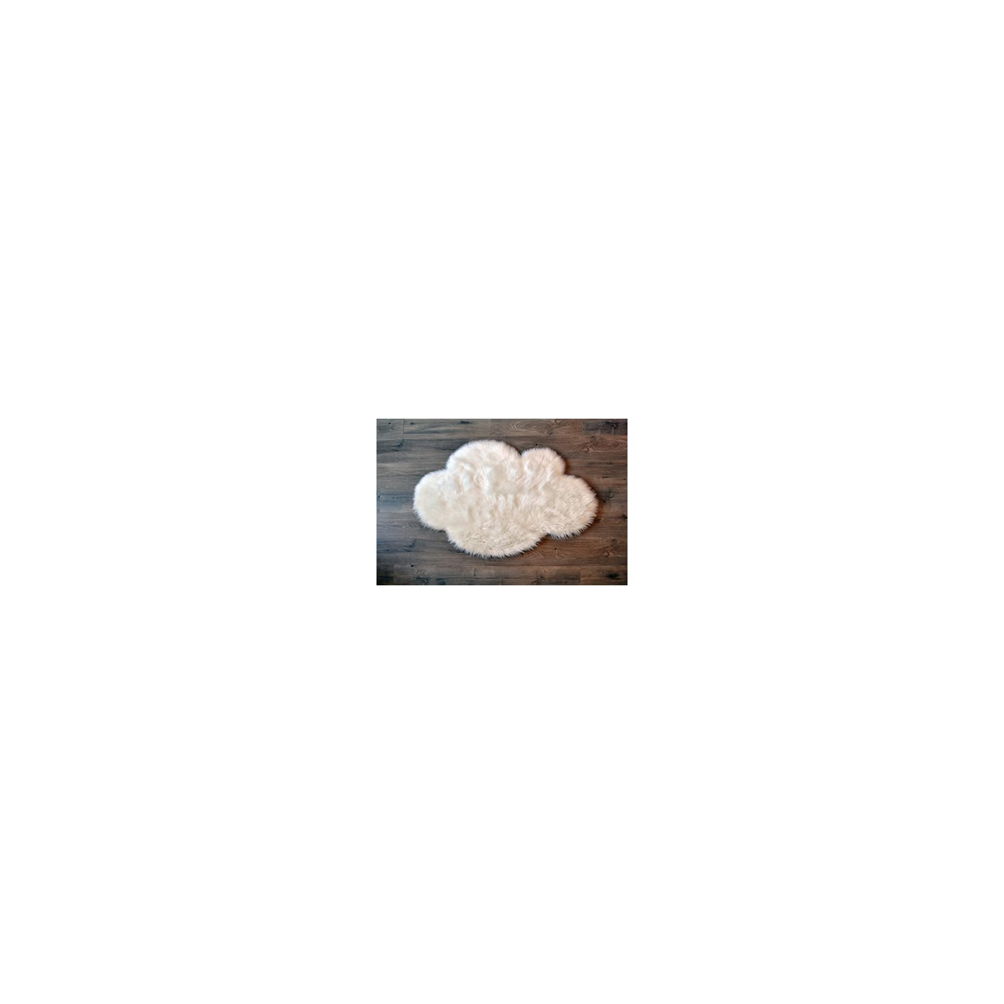 Machine Washable Faux Sheepskin White Cloud Area Rug 32″ x 44″ – Soft and Silky – Perfect for Baby's Room, Nursery, playroom (2′ 7″ x 3′ 7″) – White Cloud