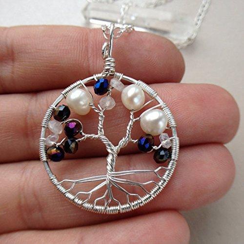 Amazon Tree Of Life Pendant Alexandrite Freshwater Pearl