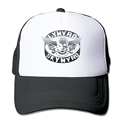 Bang Lynyrd Skynyrd Biker Patch Adjustable Mesh Hats Black
