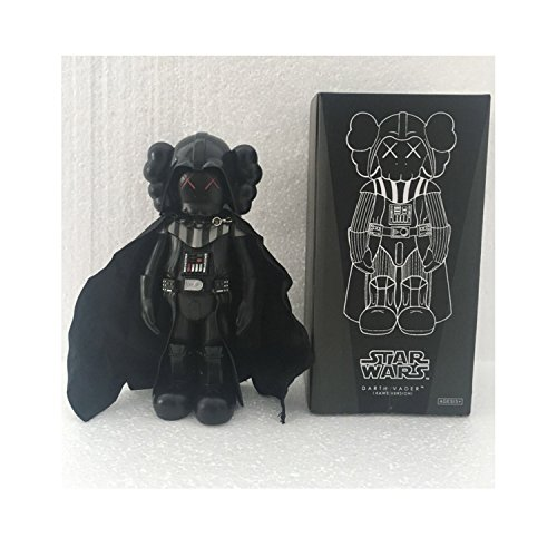 Black Vader Wars Kaws 25 cm BFF Dissected Companion Original Fake Art Toys Action Figure Figurine Plush Doll Toy Model Statue Accessories Collection Morden Gift for Boyfriend with Original ()