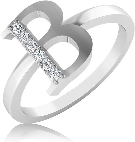 IskiUski 14KT White Gold and Diamond Ring for Women Women