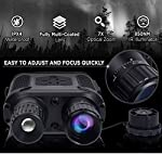 "Night Vision Binoculars in Full Darkness - Save Photos & Videos with Audio - 7x31mm Infrared Spy Gear for Hunting & Surveillance - 4"" Large Screen & 1300ft Viewing Range"