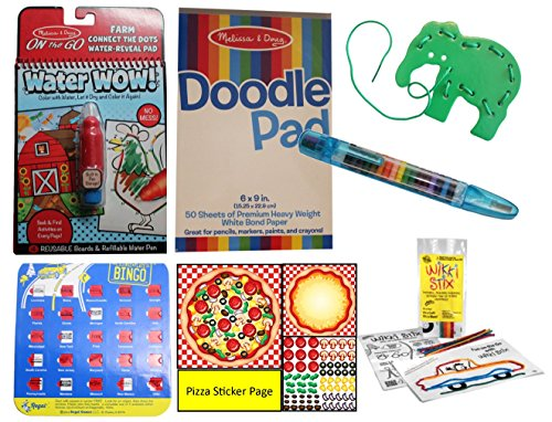 Travel Toy Activity Bundle for Kids - Busy Bag Games for Car